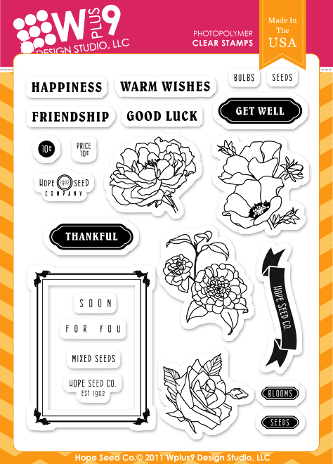 WPlus9 Design Studio - Hope Seed Stamp Set