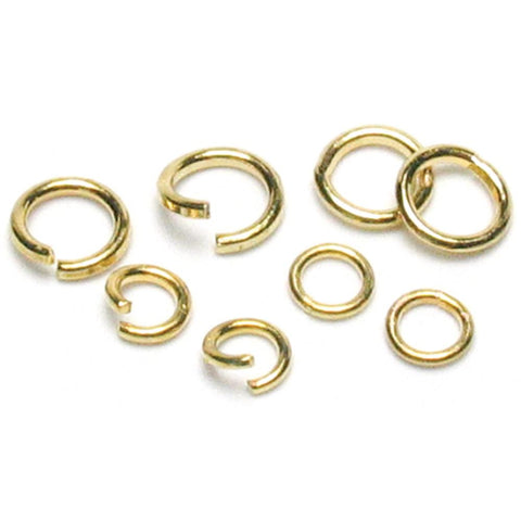 Jewelry Basics Metal Findings - Antique Gold Jump Rings 4mm/6mm 400pcs