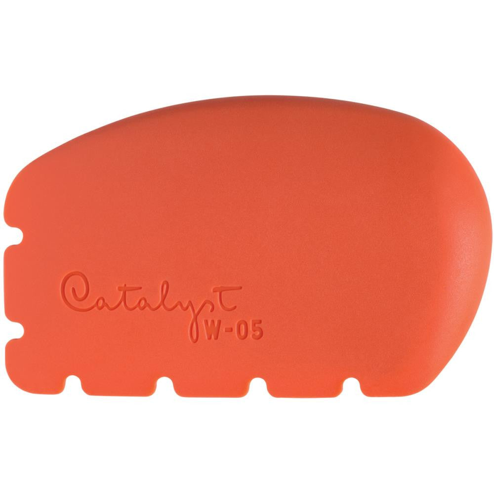 Catalyst Silicone Wedge Mixed Media Tool - Spreader Orange - W-05