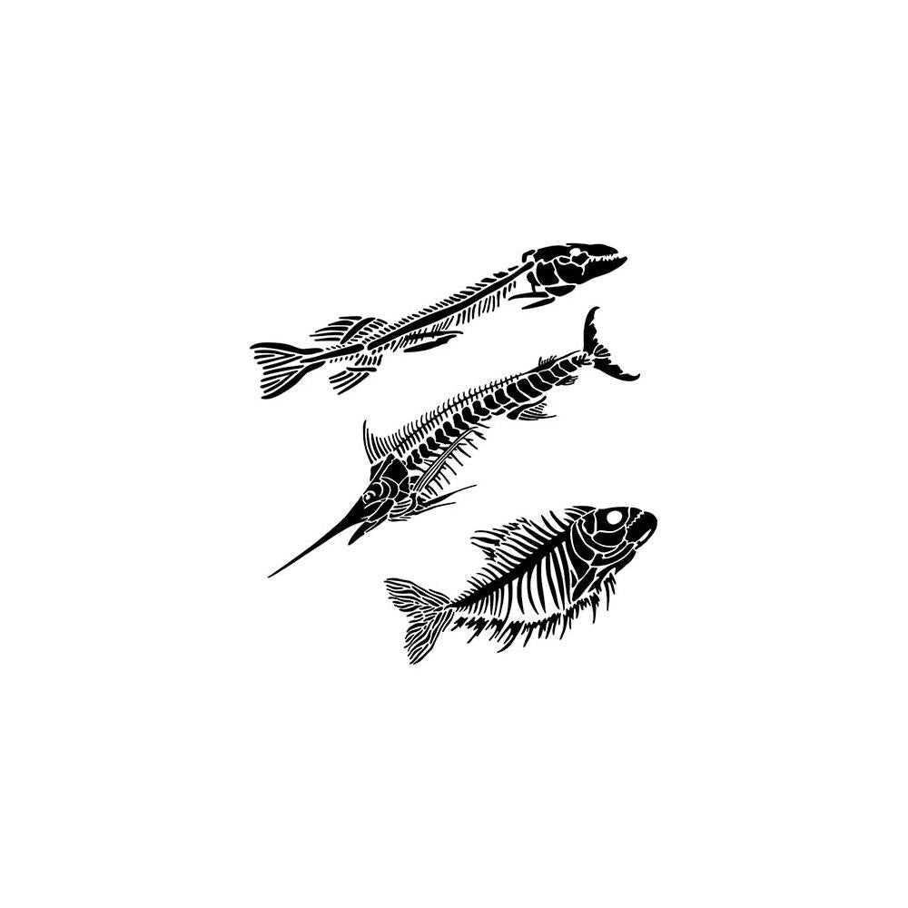 "The Crafter's Workshop 6""x 6"" Stencil- Mini Fish Fossils"