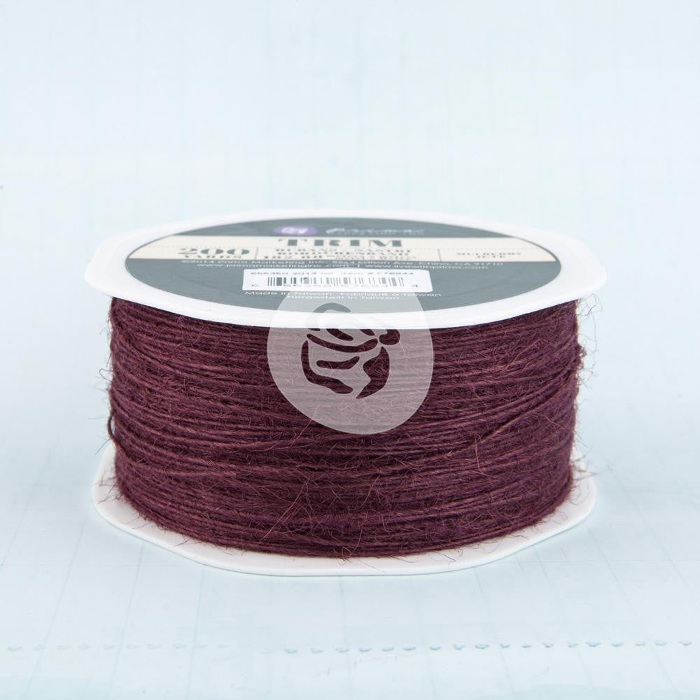 Prima Marketing Jute Trim 200yds - Mulberry