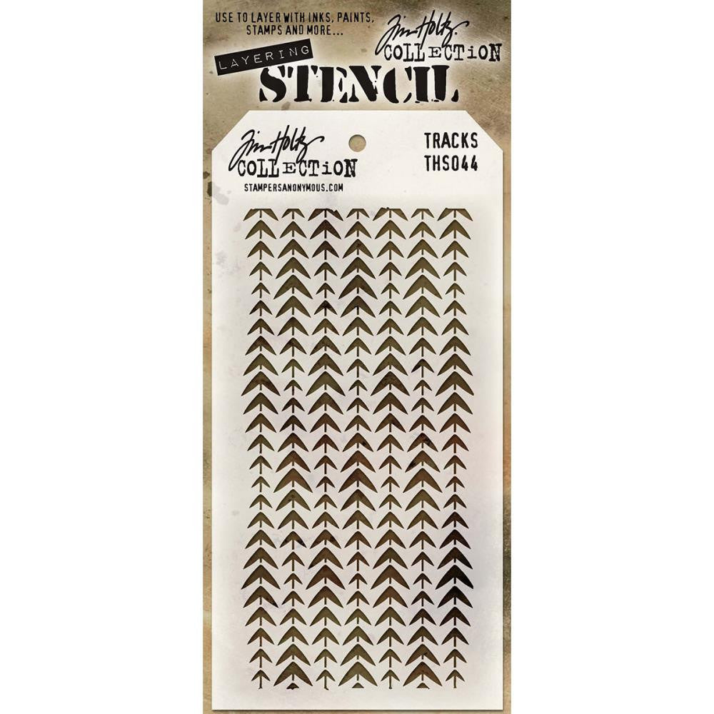 Stampers Anonymous - Tim Holtz - Layering Stencil - Tracks