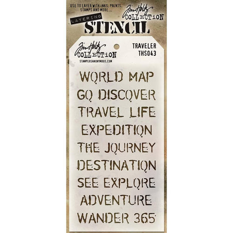 Stampers Anonymous - Tim Holtz - Layering Stencil - Travelers