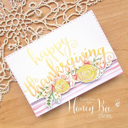 Honey Bee Stamps - Stamp Set - Thanks and Giving