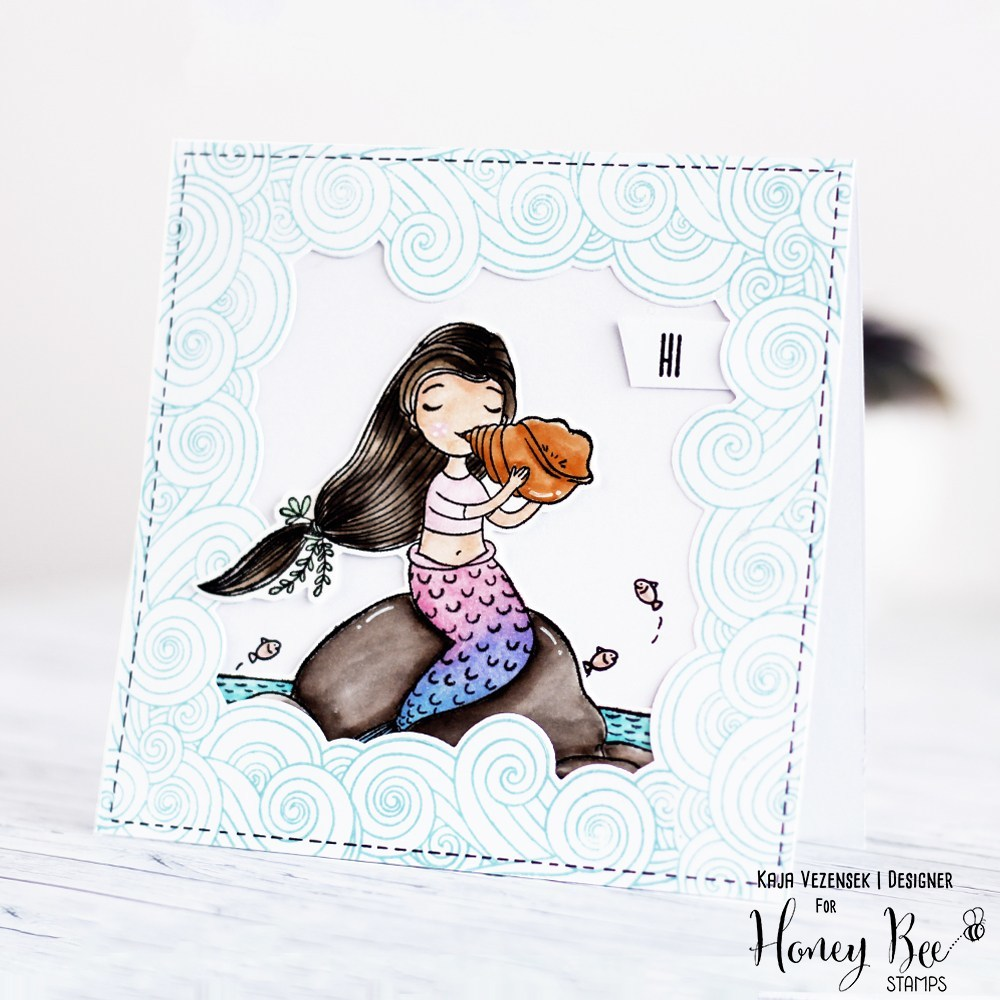 Honey Bee Stamps - Mermaid Song | 6x8 Stamp Set