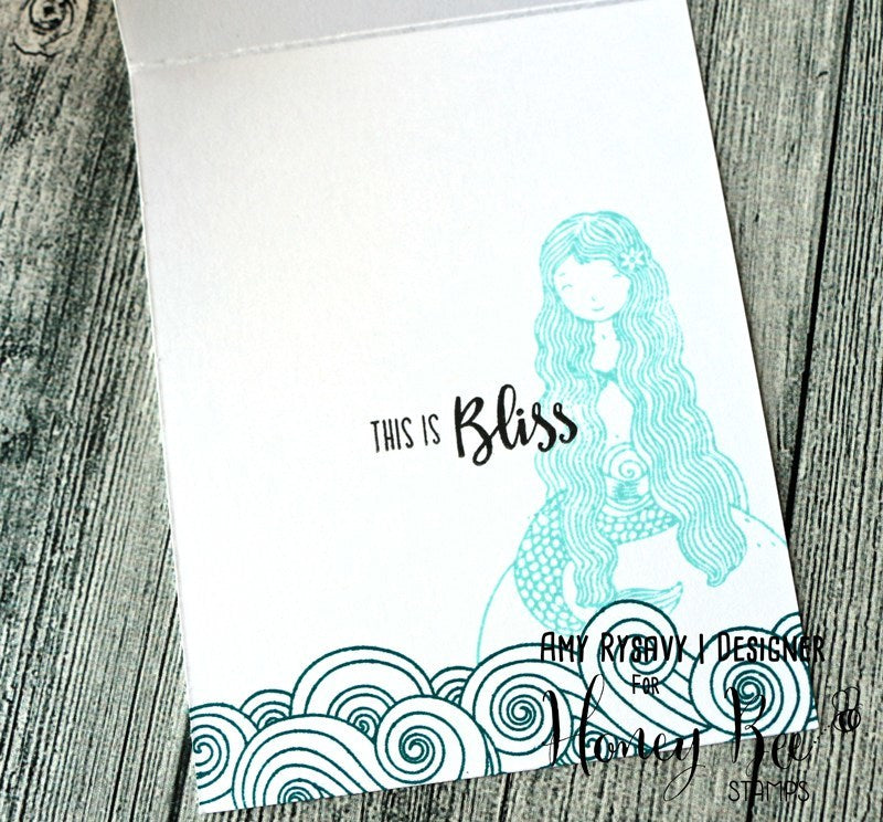 Honey Bee Stamps - Ocean Bliss | 3x4 Stamp Set