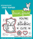 "Lawn Fawn - Lawn Cuts Custom Craft Dies - Stinkin' Cute (coordinates with ""Stinkin' Cute"" Stamp Set)"