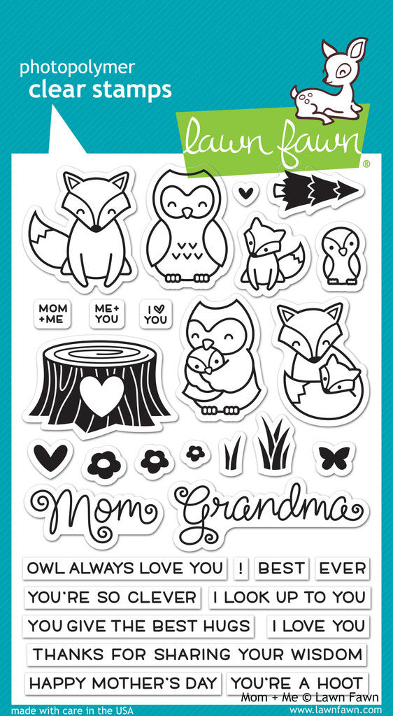 Lawn Fawn - Clear Stamps - Mom + Me