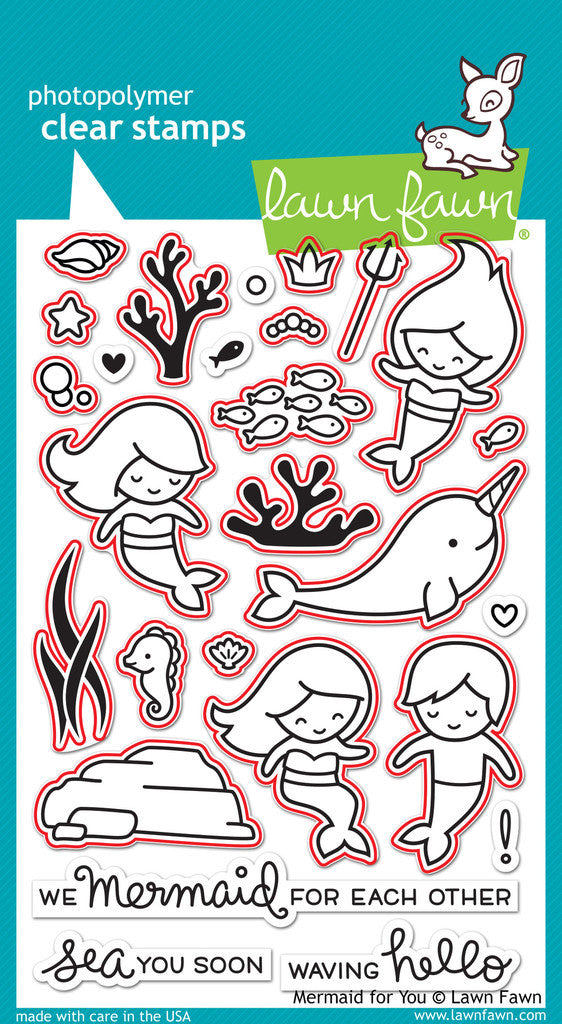 "Lawn Fawn - Lawn Cuts Custom Craft Dies - Mermaid For You (coordinates with ""Mermaid For You"" Stamp Set)"
