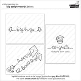 "Lawn Fawn - Clear Stamps - Big Scripty Words (coordinates with ""Big Scripty Words"" Lawn Cuts Dies)"