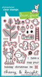 "Lawn Fawn - Lawn Cuts Custom Craft Dies - Cheery Christmas (coordinates with ""Cheery Christmas"" Stamp Set)"