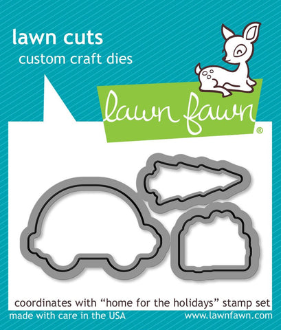 "Lawn Fawn - Lawn Cuts Custom Craft Dies - Home for the Holidays (coordinates with ""Home for the Holidays"" Stamp Set)"