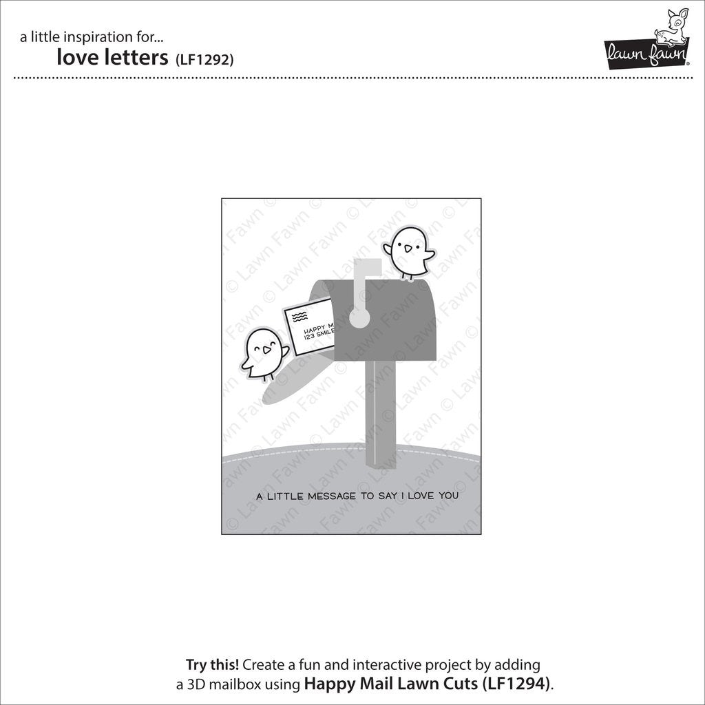 "Lawn Fawn Clear Stamps 4""X6"" - Love Letters"
