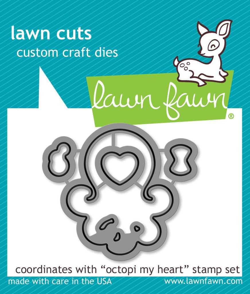 Lawn Fawn, Lawn Cuts Custom Craft Dies - Octopi My Heart (coordinates with Octopi My Heart Stamp Set)