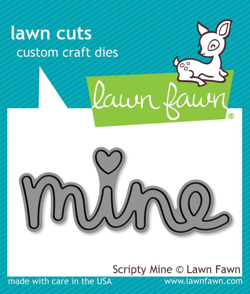 Lawn Fawn, Lawn Cuts Custom Craft Dies - Scripty Mine (Availability: February 27, 2017)