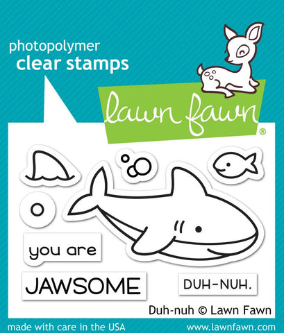 Lawn Fawn - Photopolymer Clear Stamps - Duh-Nuh