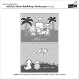 Lawn Fawn - Lawn Cuts Custom Craft Dies - Stitched Cloud Backdrop: Landscape