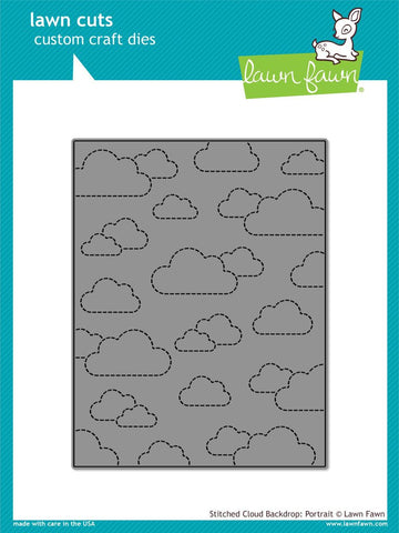 Lawn Fawn - Lawn Cuts Custom Craft Dies - Stitched Cloud Backdrop: Portrait