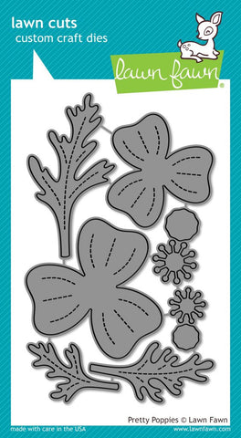 Lawn Fawn - Lawn Cuts Custom Craft Dies - Pretty Poppies