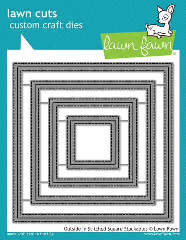 Lawn Fawn - Lawn Cuts Custom Craft Dies - Outside in Stitched Square Stackables