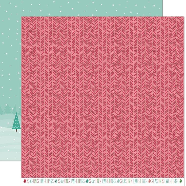 Lawn Fawn - Snow Day Remix Double Sided Cardstock 12x12 - Snowboots Remix