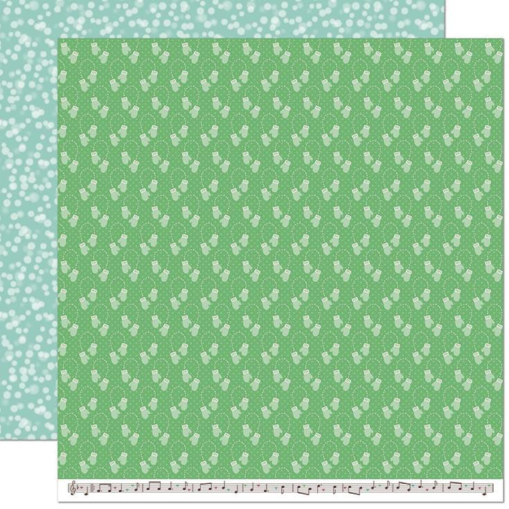 "Lawn Fawn Snow Day Remix Double-Sided Cardstock 12""X12"" Mittens Remix"