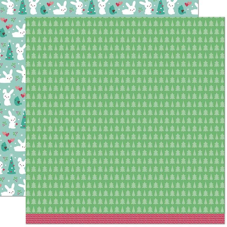 "Lawn Fawn - Snow Day Remix - Double Sided Cardstock 12""x12"" Wool Socks Remix"