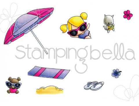 Stamping Bella - Cling Stamp Set - The Littles Umbrella