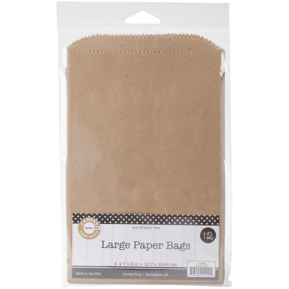 "Kraft Large Paper Bags from Canvas Corp 12 bags to Package 5"" x 7 1/2"" Mini Album"