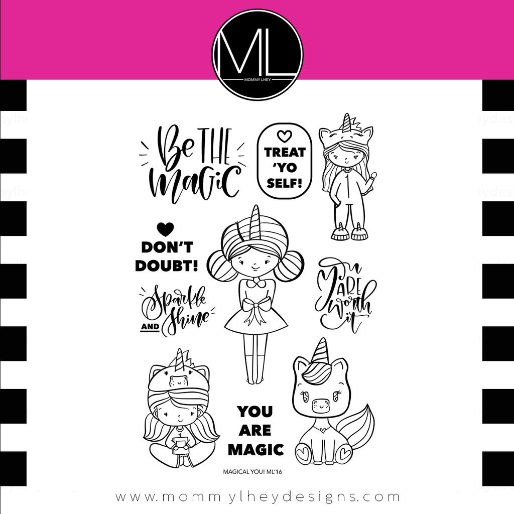 "Mommy Lhey, Stamps 4""x6"" - Magical You"