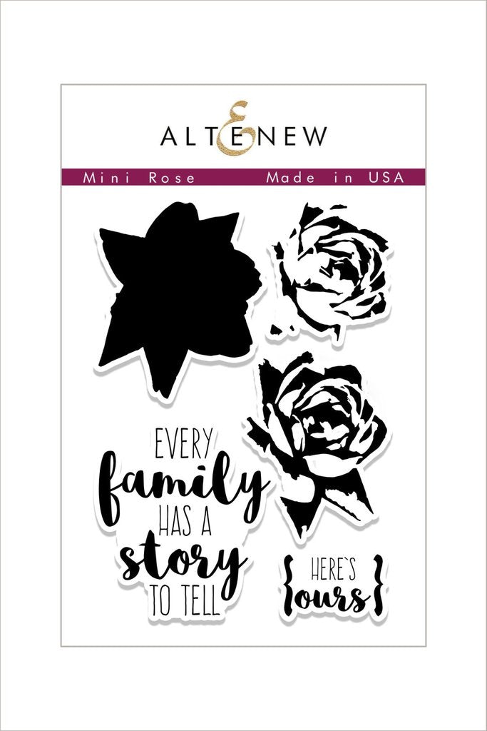 Altenew Mini Rose Stamp Set
