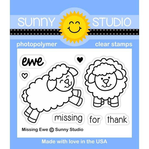 Sunny Studio - Photopolymer Clear Stamps - Missing Ewe