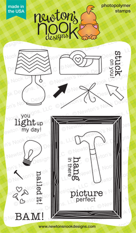 "Newton's Nook Designs - 4"" x 6"" Clear Stamps - Around the House"