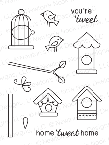 "Newton's Nook Designs 3"" x 4"" Clear Stamps - Tweet Talk"