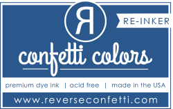 ***New Item*** Reverse Confetti - Dye Re-Inker - Navy