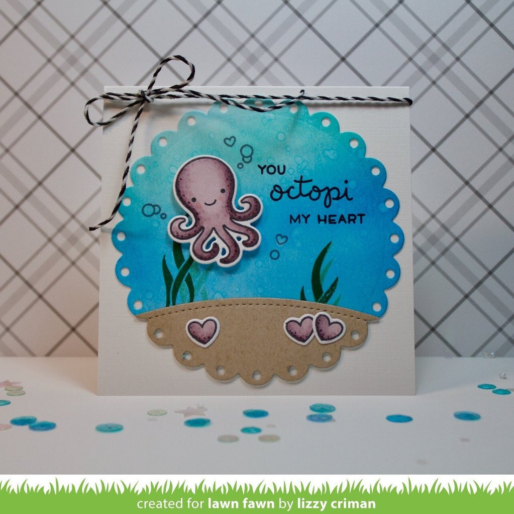 "Lawn Fawn - 2""x3"" Clear Stamp Set - Octopi My Heart"
