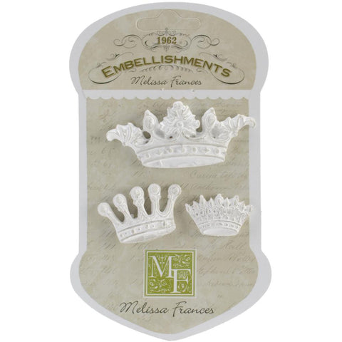 "Melissa Frances Resin Embellishments 4/Pkg - Her Majesty .625""X1"" To 1.125""X2.375"""
