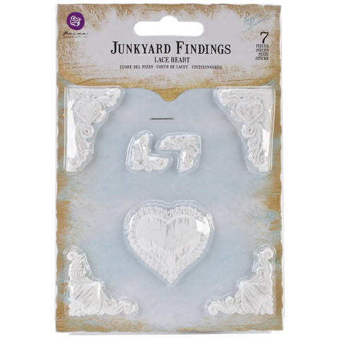 Prima - Ingvild Bolme - Shabby Chic Treasures Resin -  Lace Hearts