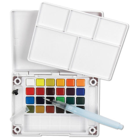 Koi Watercolor Pocket Field Sketch Box - 24 Colors