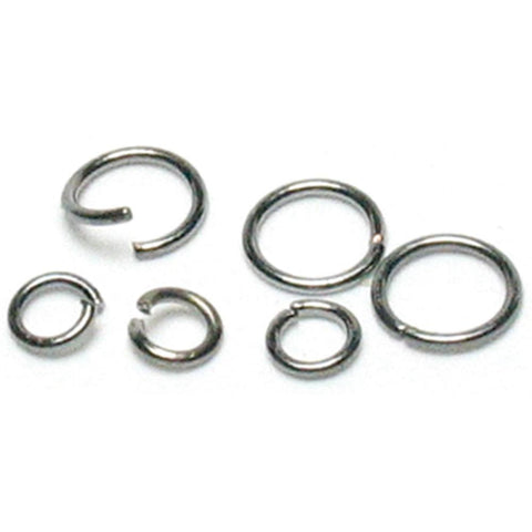 Jewelry Basics Metal Findings - Gunmetal Jump Rings 4mm/6mm 400pcs