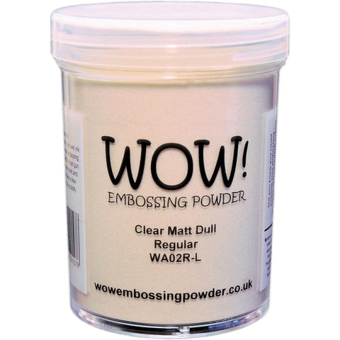WOW Embossing Powder 160ml - Clear Matt Regular (Extra Large Jar)