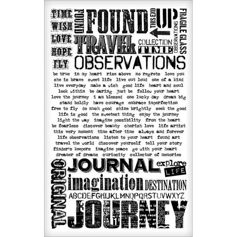 "Tim Holtz Idea-Ology Remnant Rubs Rub-Ons 4.75""X7.75"" Sheets 2/Pkg- Words"