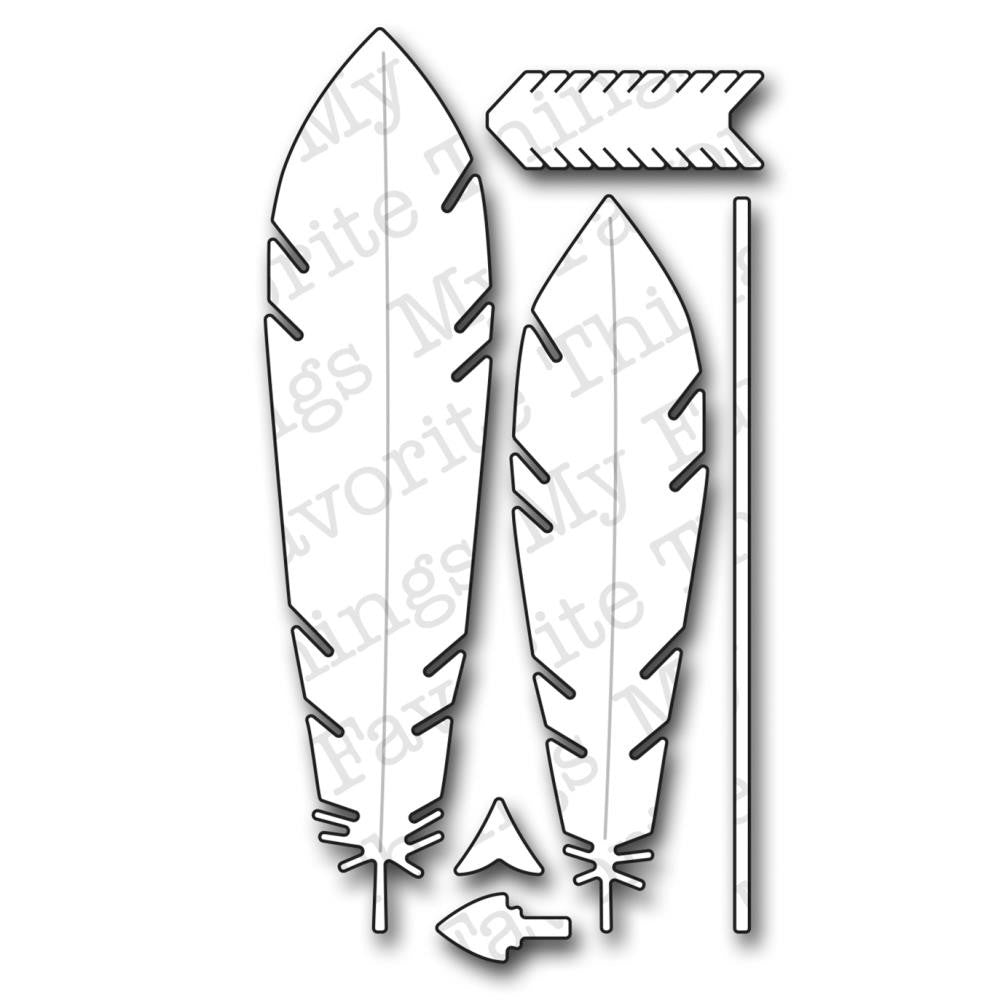 Die-Namics Accent It - Feathers and Arrows Die Set
