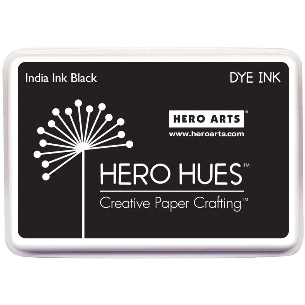 Hero Hues Black India Ink Dye Ink Pad by Hero Arts - Full Size