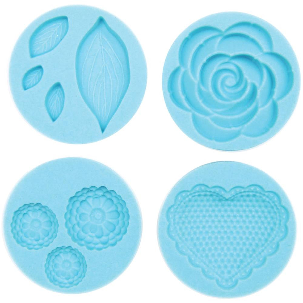 Martha Stewart Crafter's Clay Silicone Molds - 4/Pkg - Romantic
