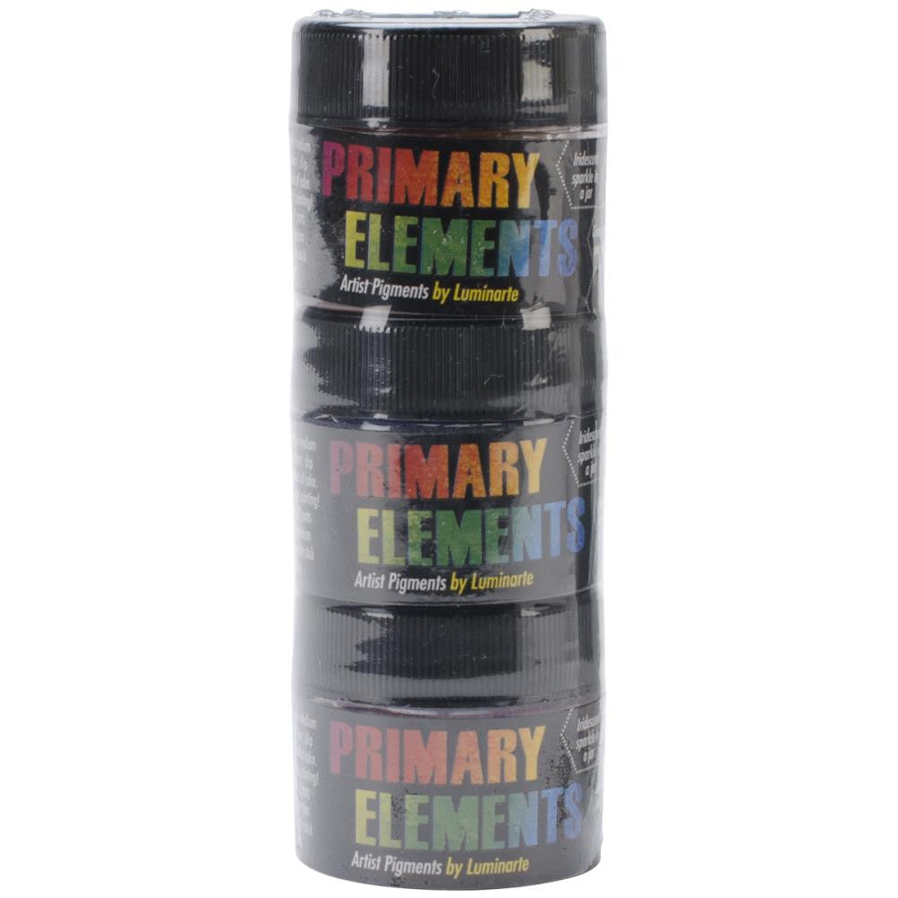 Primary Elements Artist Pigments 10ml 3/Pkg - On the Wave