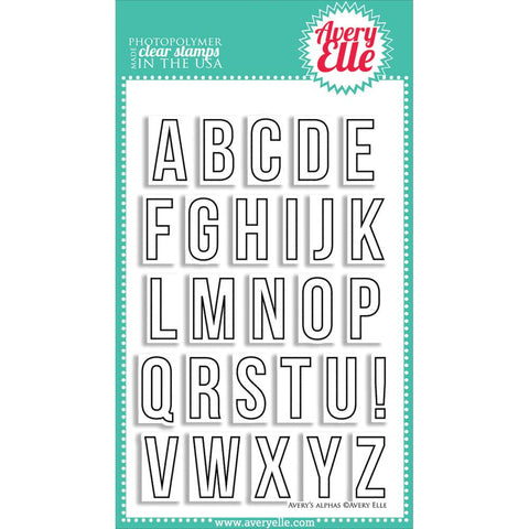 "Avery Elle Clear Stamp Set 4""X6"" - Avery's Alphas"