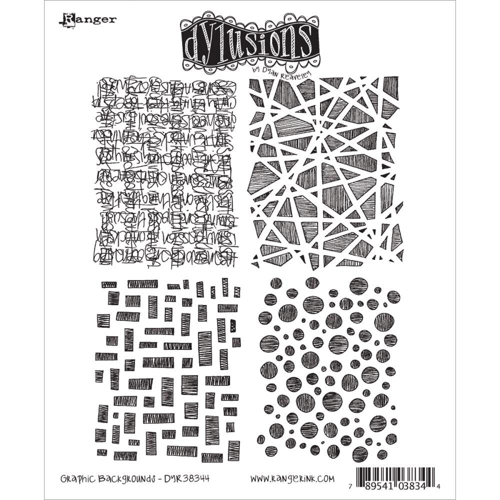 "Dyan Reaveley's Dylusions Cling Stamp Collections 8.5""X7"" - Graphic Backgrounds"