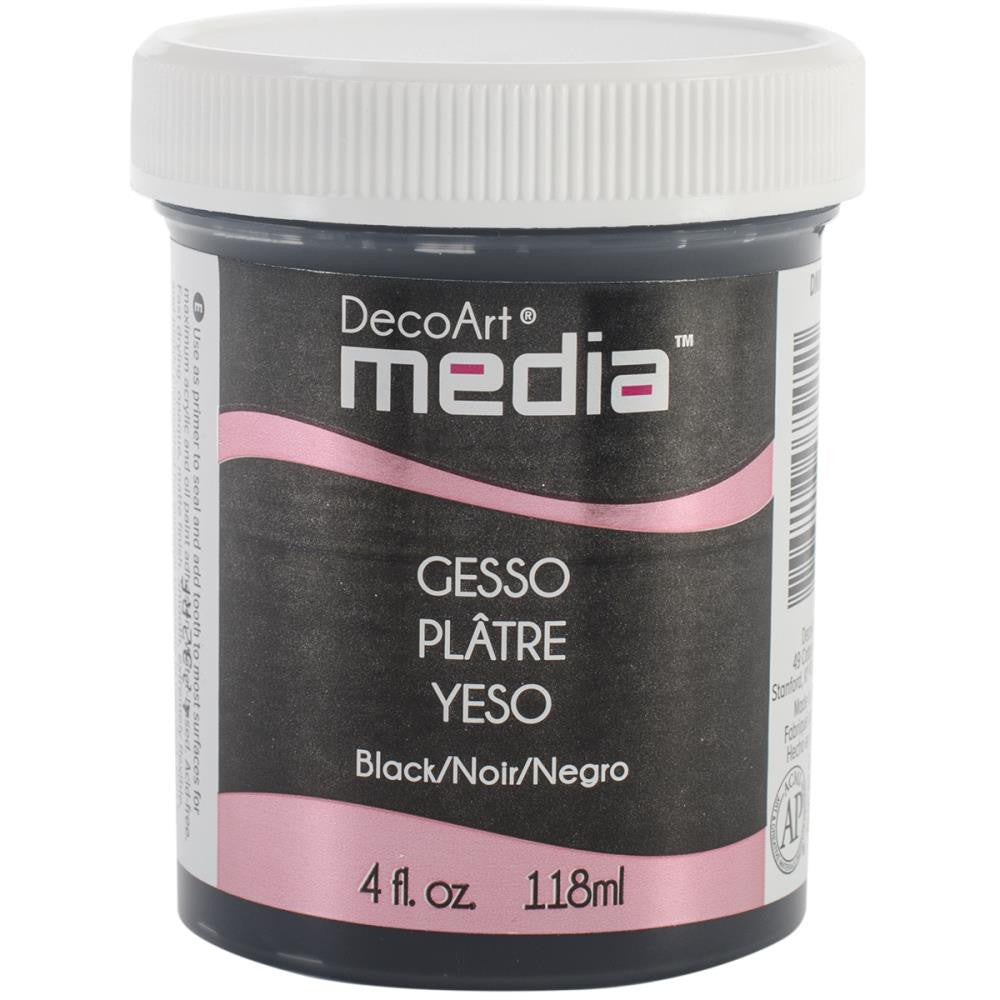 Deco Art Media Gesso 4oz - Black