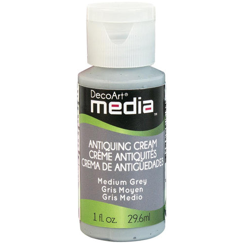 Deco Art Media Antiquing Cream 1oz - Medium Grey